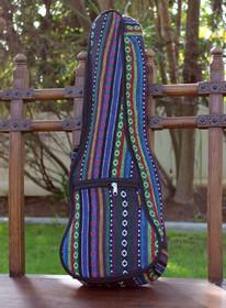 Concert Ukulele Gig Bag Padded Soft Case Multicolor Knit Stripes