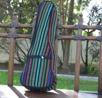 Concert Ukulele Gig Bag Padded Soft Case Multicolor Knit Surfer Style