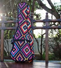 Concert Ukulele Gig Bag Padded Soft Case Multicolor Southwestern Pattern