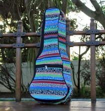Concert Ukulele Gig Bag Padded Soft Case Blue Multicolor Stripe