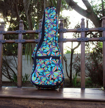 Concert Ukulele Gig Bag Padded Soft Case Jungle Multicolor Pattern