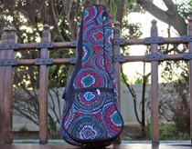 Concert Ukulele Gig Bag Padded Soft Case Voodoo Flower Pattern Black