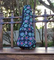 Concert Ukulele Gig Bag Padded Soft Case Multicolor Circle Pattern