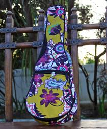 Soprano Ukulele Gig Bag Padded Soft Case Mustard Yellow Pattern