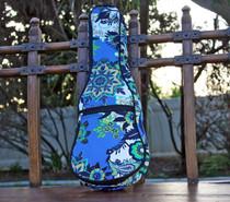 Soprano Ukulele Gig Bag Padded Soft Case Blue Pattern