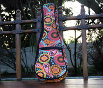 Soprano Ukulele Gig Bag Padded Soft Case Rainbow Paisley Pattern