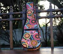 Soprano Ukulele Gig Bag Padded Soft Case Rainbow Paisley Pattern