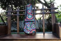 Soprano Ukulele Gig Bag Padded Soft Case Flower Circle Pattern