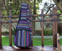 Tenor Ukulele Gig Bag Padded Soft Case Multicolor Knit Hawaiian Style