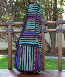 Tenor Ukulele Gig Bag Padded Soft Case Multicolor Knit Surfer Style