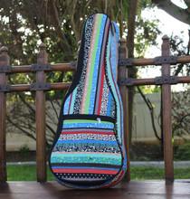 Tenor Ukulele Gig Bag Padded Soft Case Multicolor Blue Multicolor Stripe