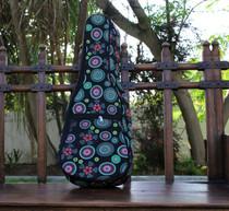 Tenor Ukulele Gig Bag Padded Soft Case Multicolor Circle Pattern