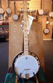 Left-Handed Deering Goodtime Two 5 string Banjo w Tone Ring & Resonator USA made