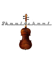 Solid Spruce-Highly Flamed Maple Violin+case NEW-Fiddle