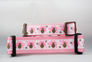 "Pink Turkey Dog Collar 1 or 1.5"" wide"