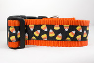 Glitter Candy Corn Halloween dog collar