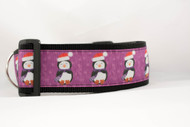 "Purple Christmas Penguin 2"" wide"