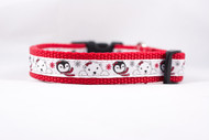 "Polar Bear Penguins Dog Collar  - 1/2, 5/8, or 3/4"" wide"