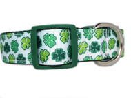 1 inch wide st patricks day dog collar