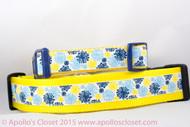 Floral dog collar
