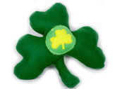 Circle Shamrock Dog Toy
