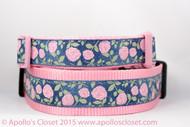 Pink dog collar for spring