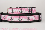 """Anchors on Hot Pink 1 or 1.5"""" wide"""