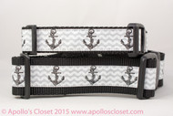 "Anchors on Shell Grey 1 or 1.5"" wide"