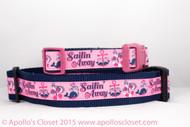 Sailing Away Beach Dog Collar
