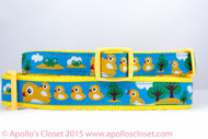 """Lost Duckling 3/4"""" or 1"""" wide Dog Collar"""