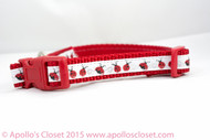 Ladybug dog collar