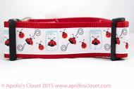 Lady bug dog collar
