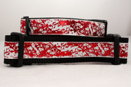 Blood Spatter dog collar