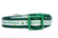 Blue Christmas dog collar