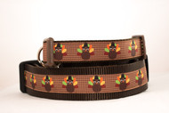 Plaid Turkey Thanksgiving dog collar