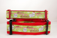 Hippopotamus for Christmas Dog Collar