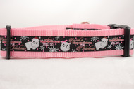 "Hippopotamus For Christmas - Black 1 or 1.5"" wide Dog Collar"