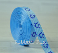 "Hanukkah 3/4"" wide Dog Collar"