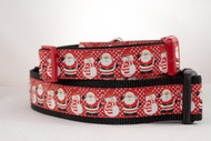 Santa and Snowmen Christmas dog collar