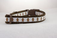 Cute gingerbread dog collar