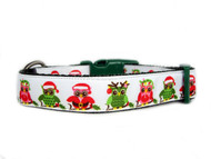 Christmas owls dog collar
