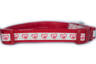 Valentine's day small dog collar