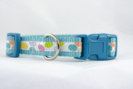 Blue Easter dog collar