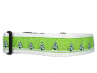 Lime winter dog collar