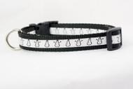 Snowman dog collar