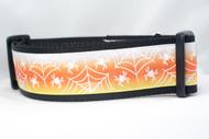 "Candy Corn Glow Web Dog Collar 2"" wide"