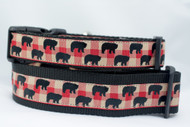 Buffalo Plaid dog collar