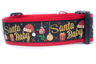 "Santa Baby Dog Collar 2"" wide"