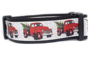 Vintage Red Pickup dog collar