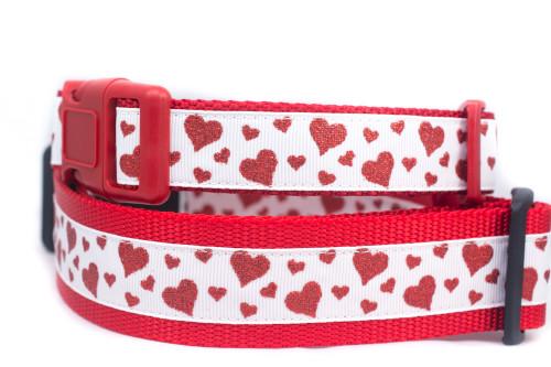 Valentine Hearts dog collar